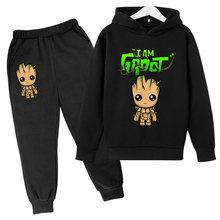 Hot-selling children boys and girls hoodie pants suit cartoon kids sweatshirt casual fashion pullover jogging pants