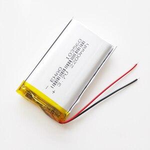 Image 3 - مجموعة 10 قطعة 3.7 فولت 2200 مللي أمبير شحم ليثيوم بوليمر بطارية قابلة للشحن EHAO 103560 ل GPS الوسادة DVD سماعة باور بنك كاميرا مسجل