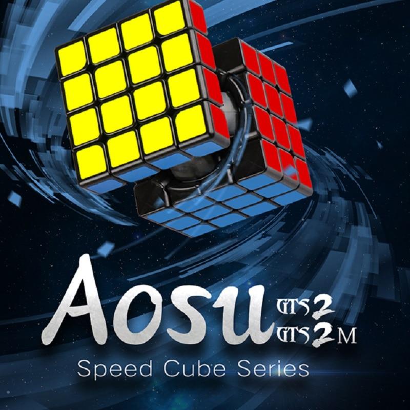MOYU AOSU GTS2M 4x4x4 Magic Cube AOSU GTS Magnetic 4x4x4 Speed Cube Puzzle Aosu GTS 2 M Speed Cube Educational Kid Toys