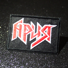 купить Pulaqi Rock Band Badges Hippie Punk Patch Embroidered Patches For Clothes Stripes Patch Slogan Badge Sticker Applique Stripes F по цене 18.89 рублей