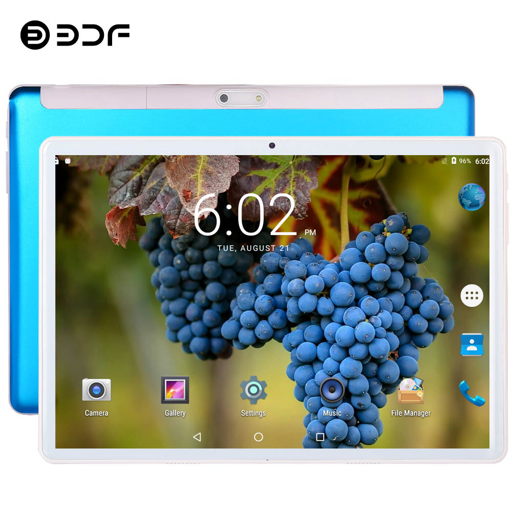 10.1 Inch Android 9.0 Tablet Pc Android Tablet Ten Core 8GB+128GB 3G 4G Phone Call SIM Card WiFi Bluetooth GPS 2.5D Glass Screen