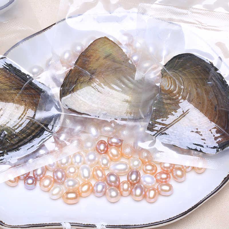 סיטונאי טבעי פרל מים מתוקים מתורבת רייס חרוזים ואקום-ארוז מיני צדפות פרל מעטפת טבעי שבלול הפנינה BANB