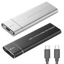 Boîtier de disque USB Gen2 vers M.2 NVME NGFF PCIe SSD, 10Gbps, adaptateur m key vers Type C, pour NVME m2 et SSD, 3.1