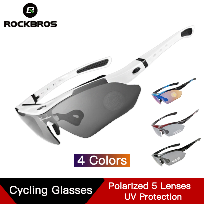 ROCKBROS <font><b>Bike</b></font> <font><b>Glasses</b></font> Eyewear Polarized Cycling <font><b>Glasses</b></font> <font><b>5</b></font> <font><b>Lens</b></font> UV400 Proof Sport <font><b>glasses</b></font> Outdoor Sport Bicycle Sunglasses Frame image