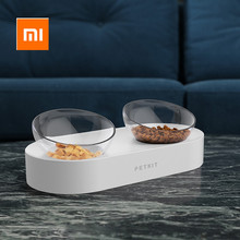 Xiaomi PETKIT cuenco de alimentación para mascotas, cuencos dobles ajustables, taza de agua, cuencos para gatos, tazón de plástico/acero inoxidable