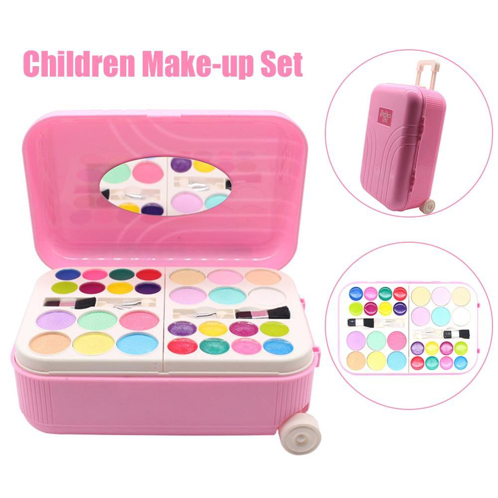 Kids Makeup Set Toy Suitcase  Dressing Cosmetics Girls Toy Plastic Safety Beauty Pretend Play Children Makeup Girls Games Gifts