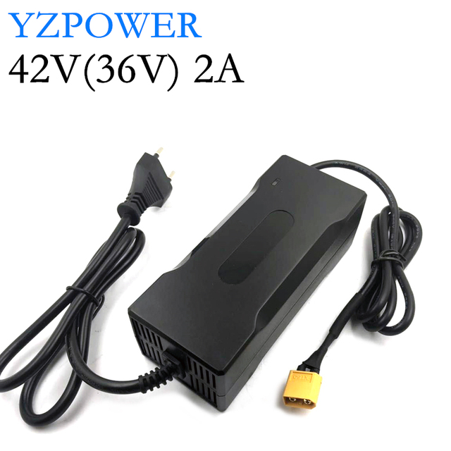 YZPOWER 42V 2A ليثيوم شاحن بطارية ل 36V 8Ah 10Ah 12Ah 15Ah 20Ah ليثيوم أيون ليثيوم بولي سكوتر كهربائي E مجموعة بطارية دراجةbattery chargerlithium battery chargercharger for