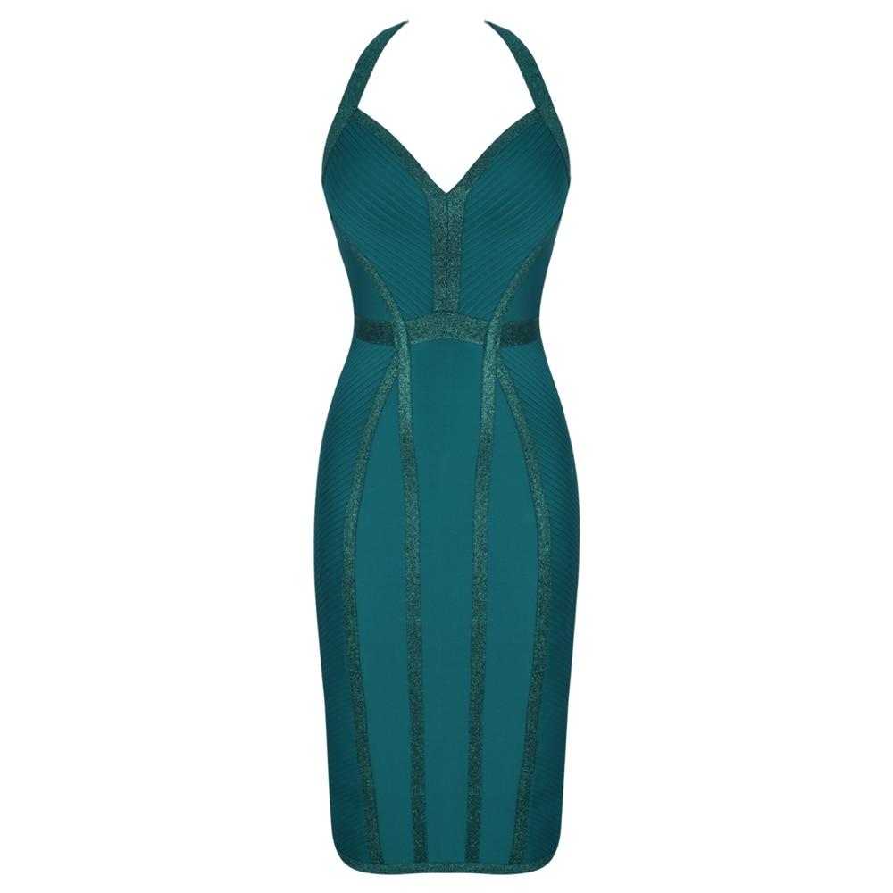 PromoteöOcstrade Bandage-Dress Celebrity Evening-Club Bodycon HALTER BACKLESS Sexy Green Fashion