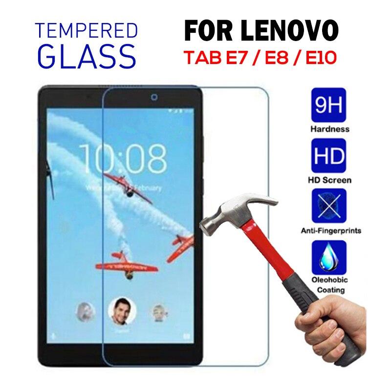Tempered Glass For Lenovo TAB E10 E8 E7 TB-X104F Protective Glass Film Screen Protector For Lenovo Tab E7 7104 E8 8304 Cover