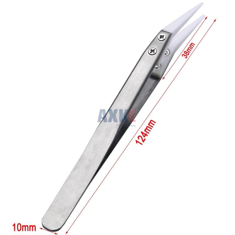 3 шт. Непроводящий керамический Пинцет IC SMD SMT Пинцет термостойкий 1000 градусов ручные инструменты DBIRD