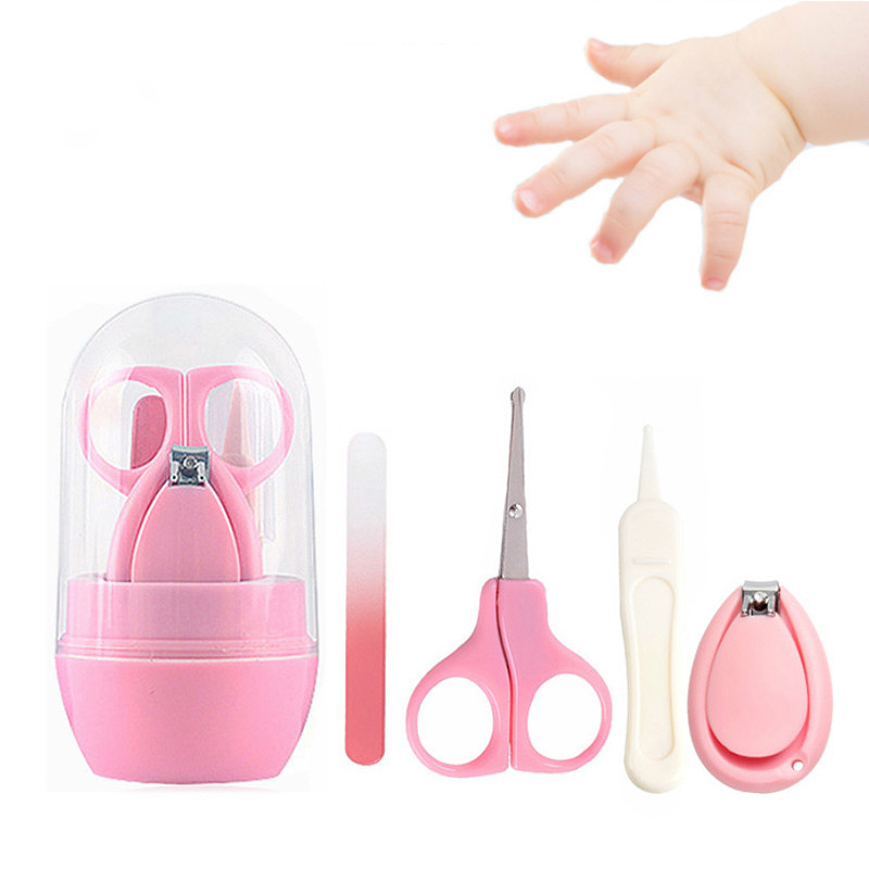Baby Nail Clipper Set 4 Pieces Child Care Tools Scissors Pliers Full Box Nail Clipper Safety Care Set