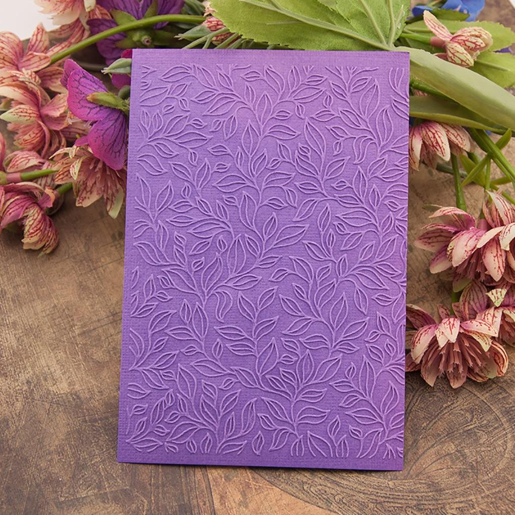 DIY Plastic Embossing Folder Leaves Design Scrapbook Card Making DIY Paper Crafts Embossing Template