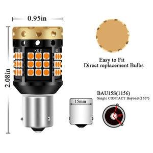 Image 4 - 2xno hyper flash 1156 ba15s p21w bau15s py21w t20 7440 lâmpada transformar a luz do sinal âmbar 12 24v 3030 36/45smd canbus livre de erros leds
