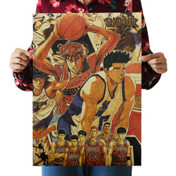 [A217] Slam Dunk Retro Kraftpaper Poster Indoor Bar Cafe Decorative Painting