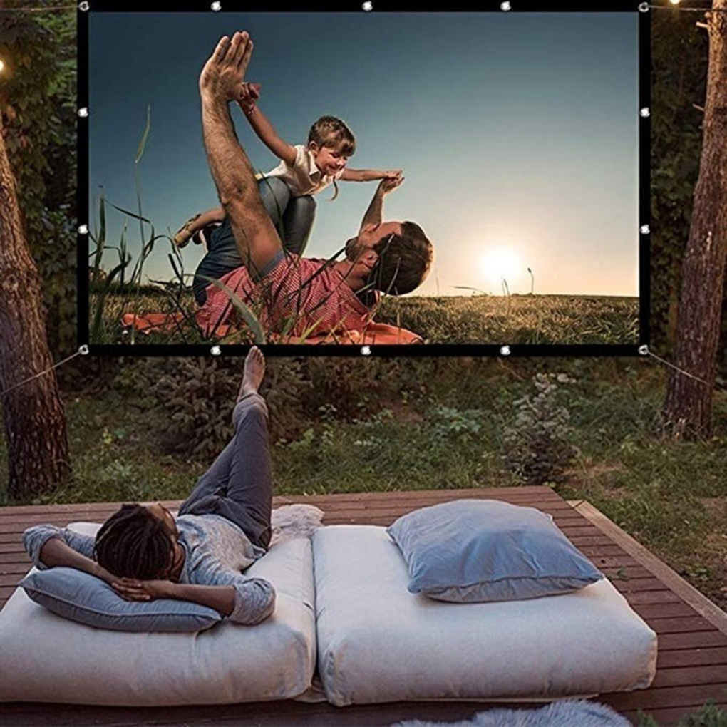 Foldable 16 9 Projector 60 70 84 100 120 inch White Outdoor Projection Screen TV Home Projector Screen