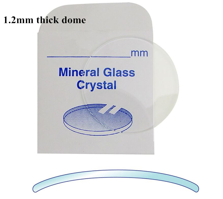 High Quality!1.2mm Thick Double Dome Concave Mineral Round Glass Select Size From 18mm To 44.5mm
