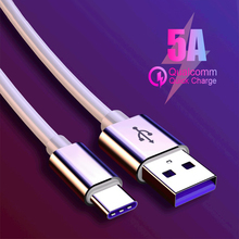USB 5A Type C Cable For P30 P20 Pro lite Mate20 10 P10 Plus 3.1 Type-C  Supercharge Super Charger