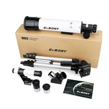 SvBony High Quality 60420 Refractive 60mm  Kids  Astronomical Telescope have Wide Angle Powerful Zoom Telescope with Tripod