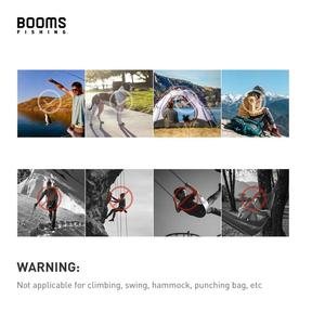 Image 5 - Booms Fishing CC1 6Pcs Aluminum Alloy Carabiner Keychain Outdoor Camping Climbing Snap Clip Lock Buckle Hook Fishing Tool 6Color