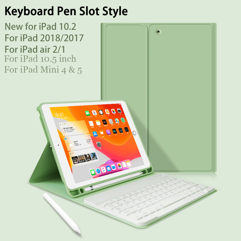 For ipad 10.2 Case with Keyboard for ipad 7th generation Case/9.7 2018/Air 2 1/Mini 4 title=