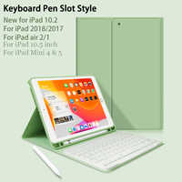Funda para ipad 10,2 con teclado para ipad 7 generación/9,7 2018 / Air 2 1 / Mini 4 Mini 5/funda para ipad Pro 10,5