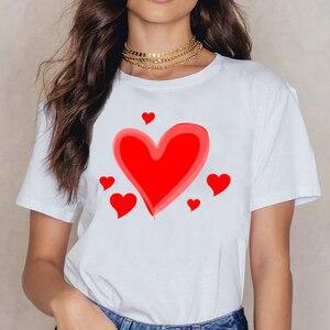 Топы, футболка, женская, на День святого Валентина, специальная, забавная, белая, с принтом, женская рубашка