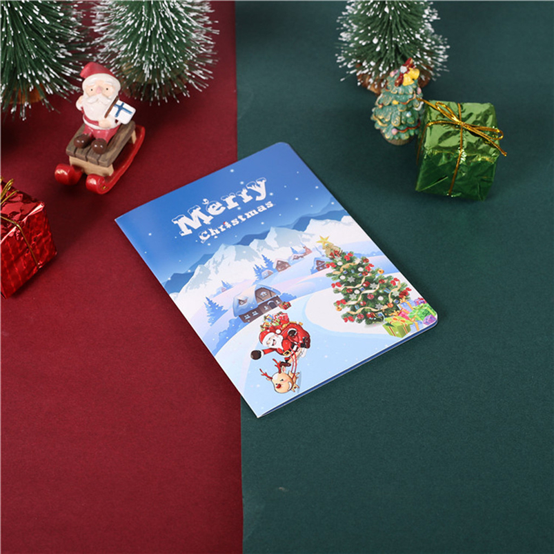 Christmas Card Set Santa Claus Elk Snowman Diamond Painting DIY Holiday Card 30 x 15 x 2cm Merry Christmas Navidad 40OCT711