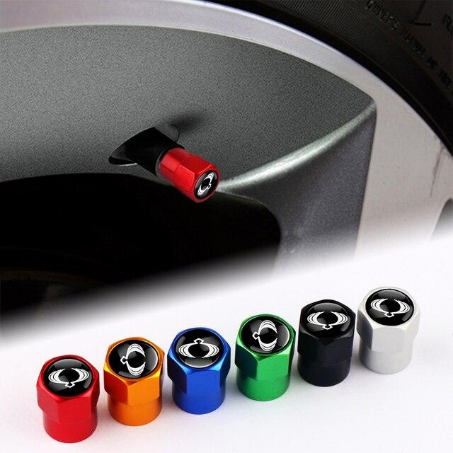 רכב 4pcs 3D מתכת אוטומטי גלגל הצמיגים Valve גזע Caps כיסוי עבור סאנגיונג Rexton 2 Tivolan מוסו טיבולי Kyron actyon ספורט Korando