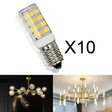 10pcs/lot E14 5w 7w led light bulb SMD2835 220v Lamp warm white Crystal chandelier small