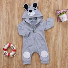 Cute Bear Newborn Infant Baby Boy Girl 0-24M Kid Hooded Romper