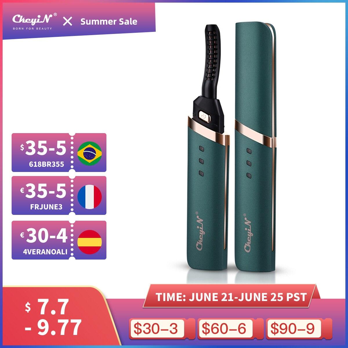 CkeyiN Electric Heated Eyelash Curler USB Rechargeable Eyelashes Curler Quick Heating Natural Eyelash Curler Long Lasting Makeup