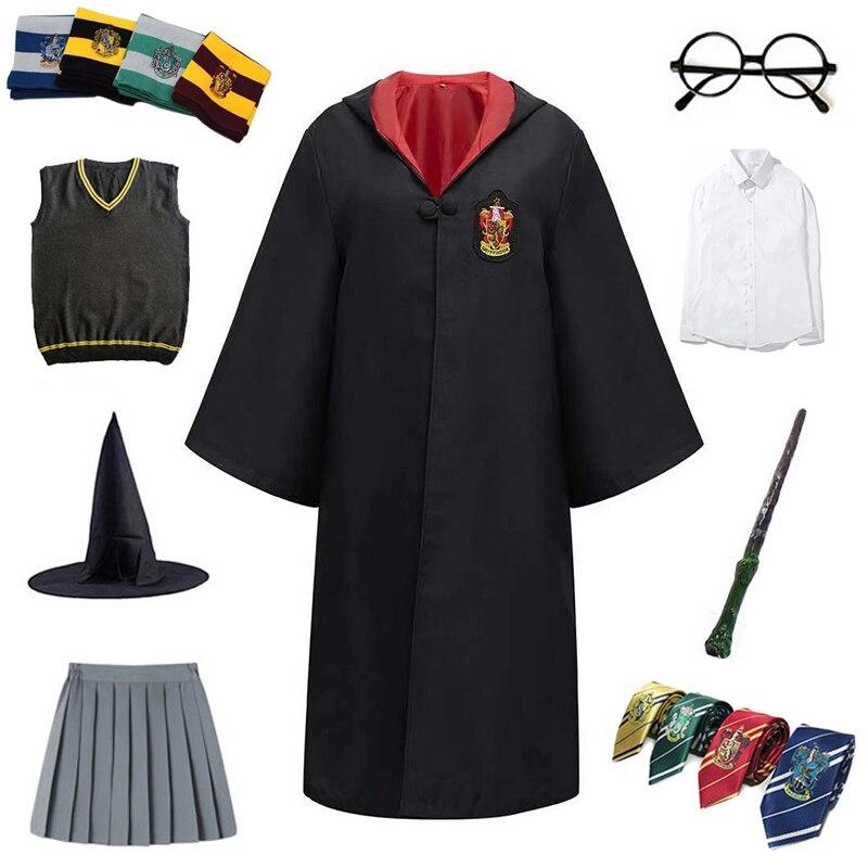 Костюм для косплея для взрослых и детей, Волшебная накидка, детский халат, накидка, рубашка, юбка, худи для косплея для детей, аксессуары для ...