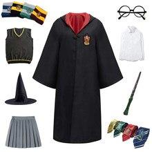 Adulto crianças cosplay traje roupas magia manto crianças robe camisa do cabo saia cosplay hoodie para crianças dia das bruxas presente acessórios