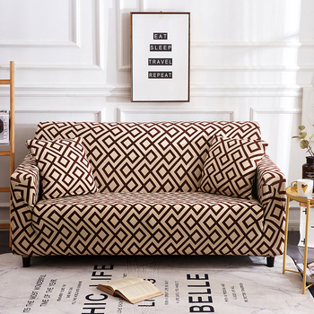 Sofa Covers for Living Room Modern Floral Printed Stretch Sectional Slipcover Polyester L Shape Armchair Couch Case 1/2/3/4 Seat 27