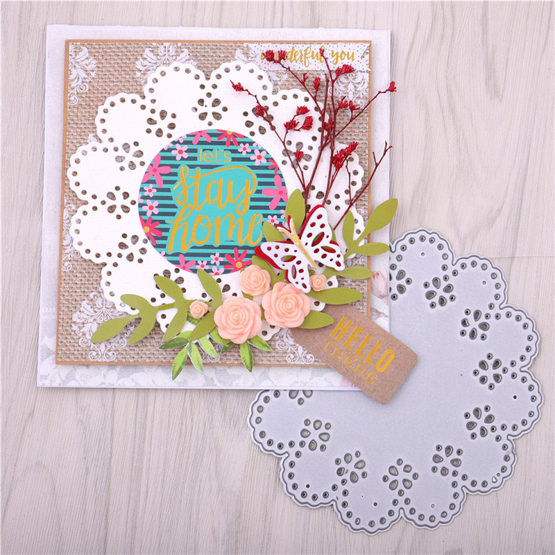 DiyArts Flower <font><b>Dies</b></font> Lace Frame <font><b>Metal</b></font> <font><b>Cutting</b></font> <font><b>Dies</b></font> <font><b>New</b></font> <font><b>2019</b></font> For Scrapbooking Card Making Cover Background Craft <font><b>Die</b></font> Cuts image