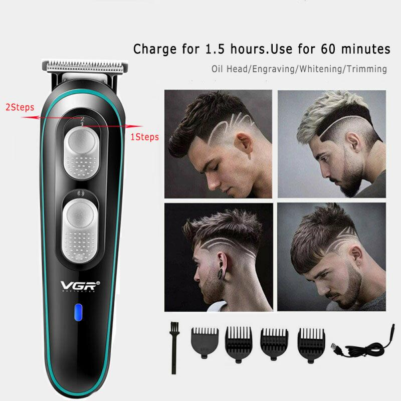 VGR Hair Clipper Cross-border New USB Electric Clipper Adjustable Trimmer Electric Fader Rechargeable Clipper Barber Tools TSLM1