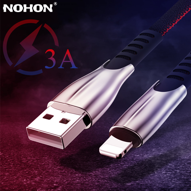 NOHON Fast Charge USB to Lightning Charger Cable For iPhone 11 Pro X XS 7 8 6 6s Long Wire Cord Mobile Phone Cables Accessory 3m-in Mobile Phone Cables from Cellphones & Telecommunications on AliExpress