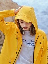 Chaqueta larga con capucha para mujer, impermeable transparente a la moda para adultos, Poncho para mujer, para motocicleta, senderismo, color rosa, amarillo, Poncho resistente al agua R6