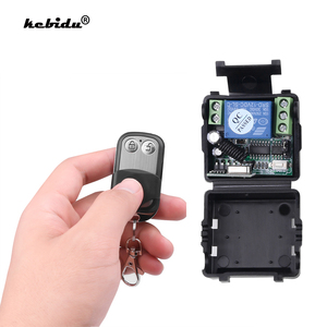 kebidu Wireless Remote Control Switch DC 12V 10A 1CH relay Receiver Module and RF Transmitter 433 Mhz Remote Controls