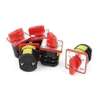 5 Pcs HZ5D-20/4 M04 3-Position Control Combination Switch AC 380V 4KW
