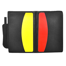 Convenient Soccer Referee Sport Match With Case+Pencil For Soccer Games Training Accessories Portable Red/yellow Cards