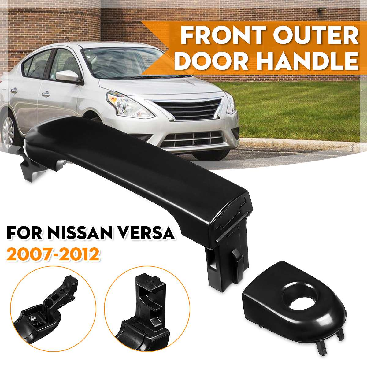 For Nissan Versa 2007-2012 Front Outside Exterior Outer Door Handle Left Driver