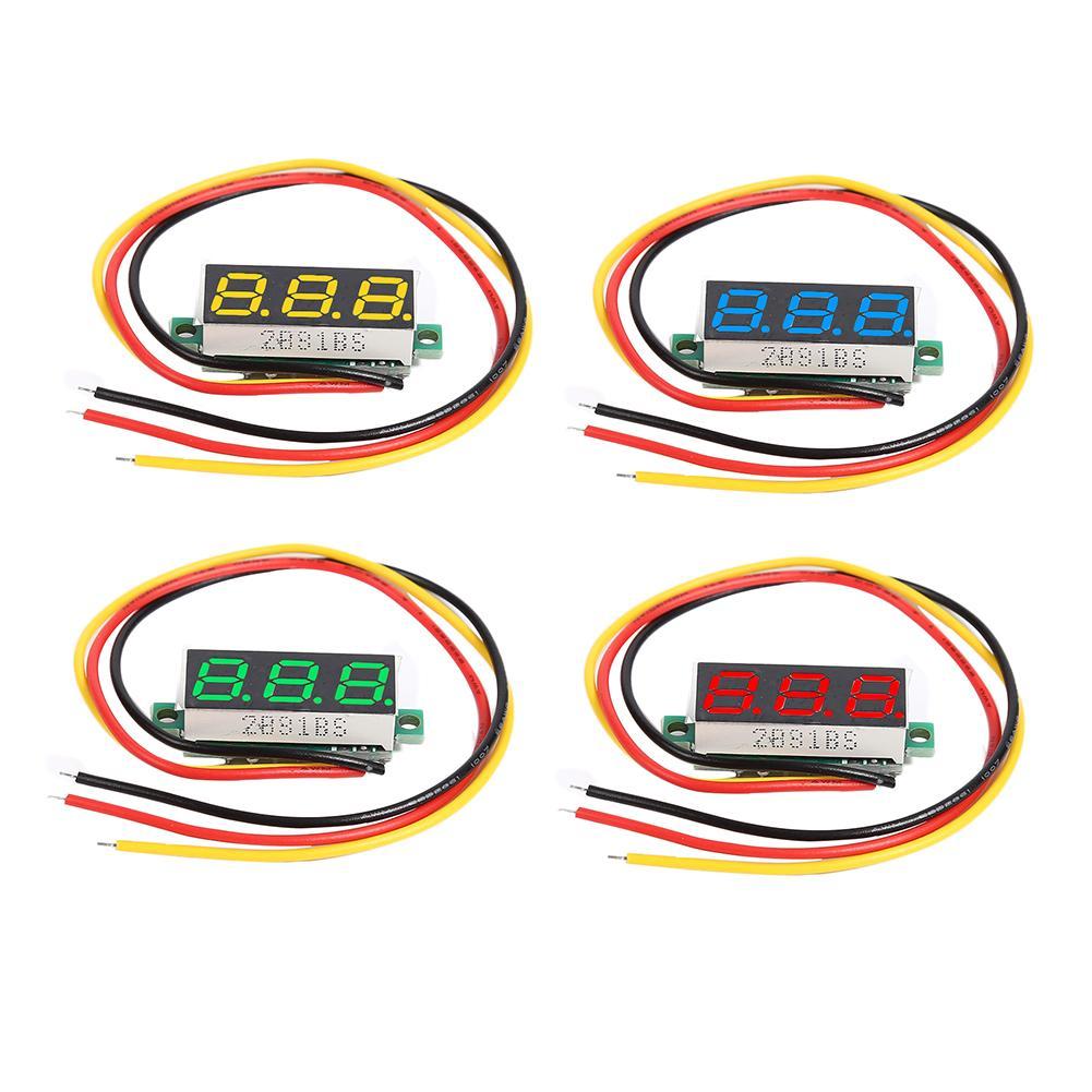 0.28 Inch DC 0-100V 3 Wires Mini Gauge Digital Voltmeter 0-100V  Voltage Meter Voltmeter LED Display