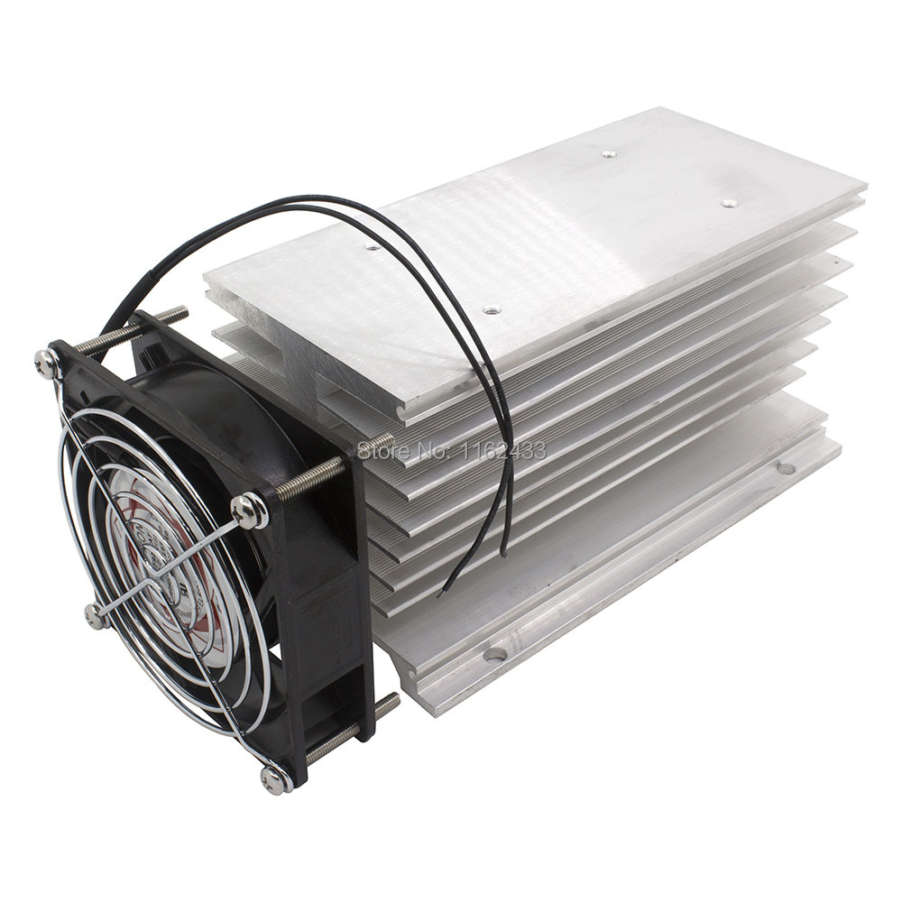 FHSI02F-<font><b>180</b></font> <font><b>180</b></font>*100*95 <font><b>mm</b></font> 120A three phase solid state relay SSR heat sink radiator with 220VAC <font><b>fan</b></font> and protective cover image