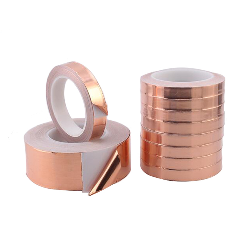 20 Meters Single Guide Copper Tape 0.05 Thick Copper Tape Copper Foil Tape Shielding Tape 3mm 4mm 5mm 6mm 7mm 8mm 10mm 12mm 18mm