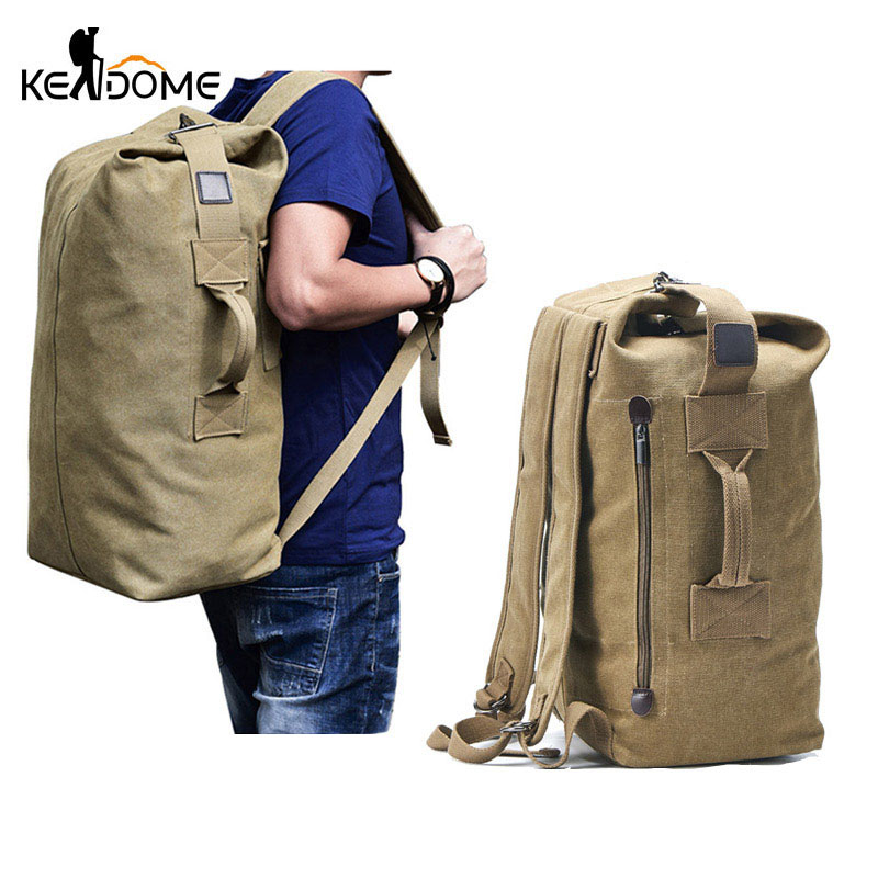 Large Travel Climbing Bag Tactical Military Backpack Women Army Bags Canvas Bucket Bag Shoulder Sports Bag Male Outodor XA208WD