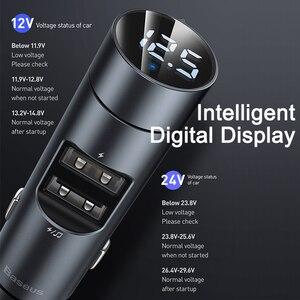 Baseus FM передатчик автомобильный Bluetooth 5,0 FM радио модулятор Автомобильный комплект 3.1A USB Автомобильное зарядное устройство Handsfree беспроводной Aux аудио MP3 плеер