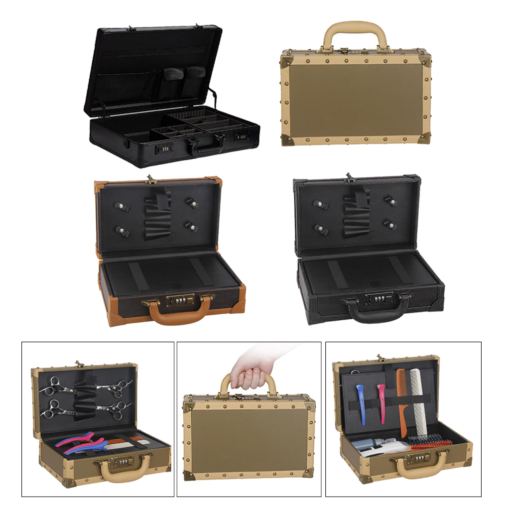 Barber Stylist Lock Case Organizer Clippers Trimmers Hair Tools Carrying Case Hair Scissors Tool Box Makeup Storage Bag