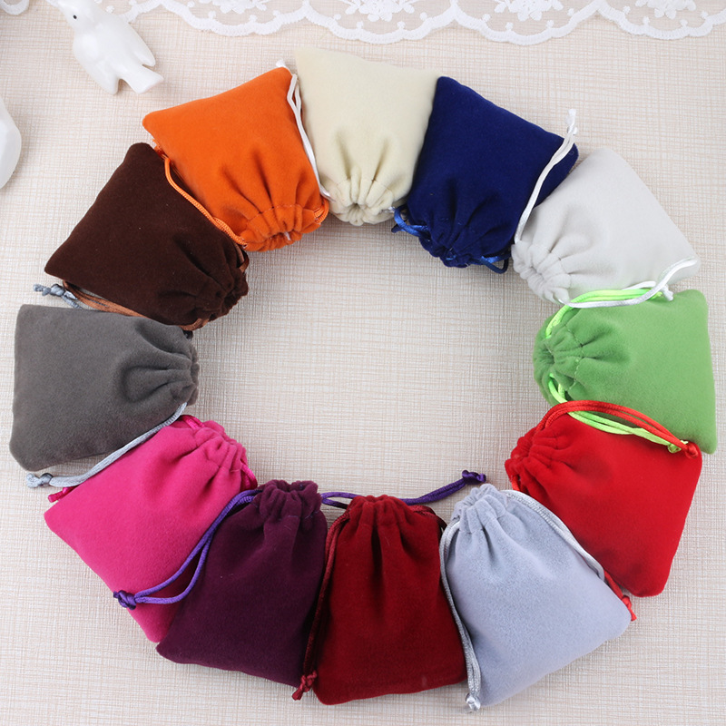 Drawstring Velvet Bags&Pouches Jewelry Bags Gift Packaging Bag Packing Box For Necklace Bracelet Earrings Jewelry Bags BX200001