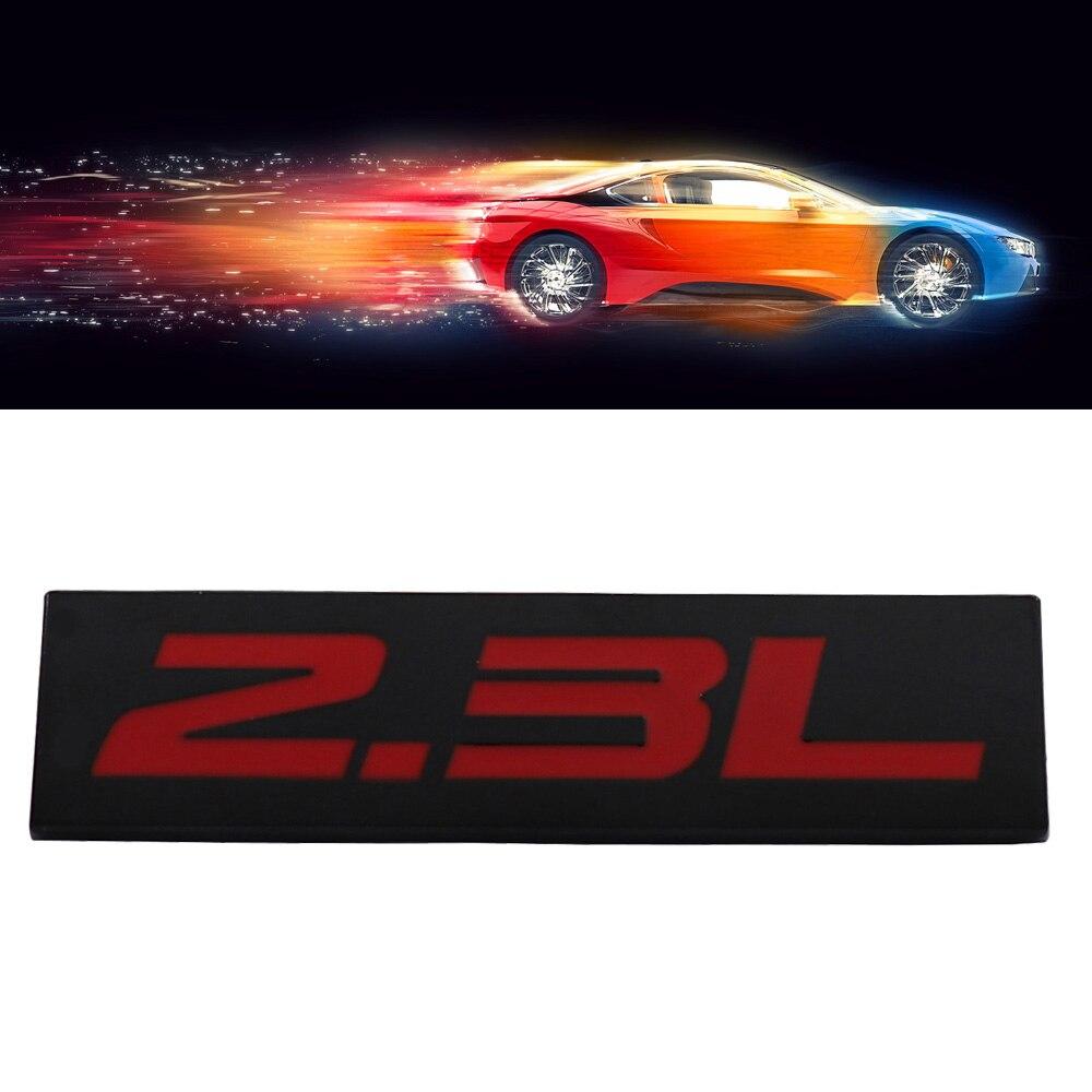 Черный, красный 2.3L 2,3 L для двигателя, крыла углеродное волокно Задняя Крышка багажника эмблема наклейка значок Стикеры